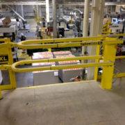 mezzanine safety gate installation