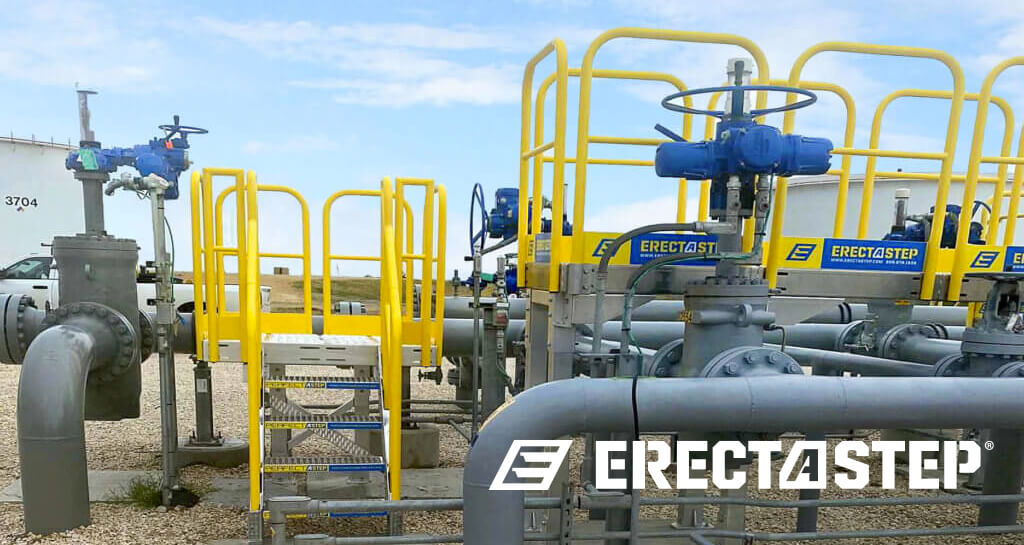 ErectaStep industrial access stairs and fall protection
