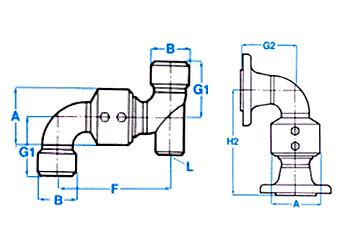 swivel joints measurements