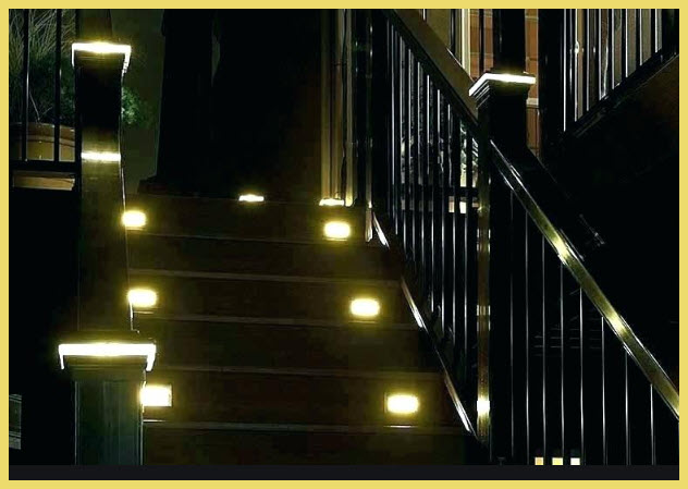 Visibility of stair treads at night